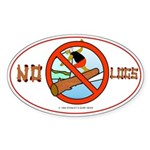 NO LOGS Oval Sticker