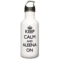 Keep Calm and Aleena O Water Bottle