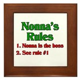 Nonna's Rules Framed Tile