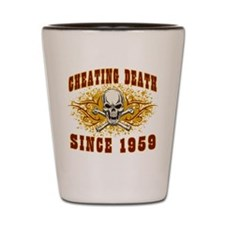 Cheating Death 1959 Shot Glass