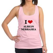 I love Albion Nebraska Racerback Tank Top