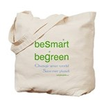 beSmart beGreen Tote Bag - reusable grocery bags
