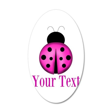 Purple Ladybug Wall Decal