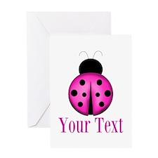 Purple Ladybug Greeting Cards