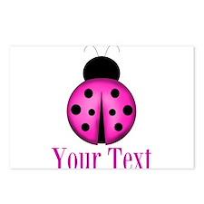 Purple Ladybug Postcards (Package of 8)