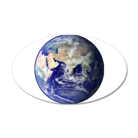 Earth From Space (Eastern He 35x21 Oval Wall Decal