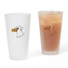 EAGLE HEAD Drinking Glass