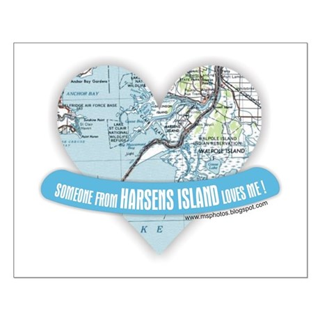 Harsens Island Small Poster