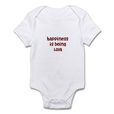 happiness is being Lola Infant Bodysuit