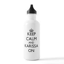 Keep Calm and Karissa Water Bottle
