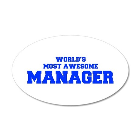 WORLD'S MOST AWESOME Manager-Fre blue 600 Wall Dec