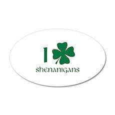 I Shamrock Shenanigans 22x14 Oval Wall Peel