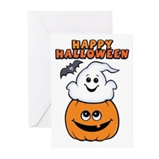 Ghost In Pumpkin Greeting Cards (Pk of 10)
