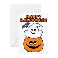 Ghost In Pumpkin Greeting Card