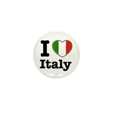 I love Italy Mini Button (10 pack)