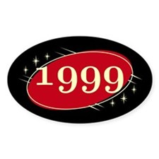 Year 1999 Black/Red Neo Retro Oval Decal