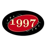 Year 1997 Black/Red Neo Retro Oval Decal