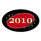 Year 2010 Black/Red Neo Retro Oval Decal