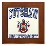CUTSHAW University Framed Tile