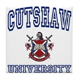 CUTSHAW University Tile Coaster