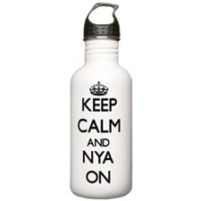 Keep Calm and Nya ON Water Bottle