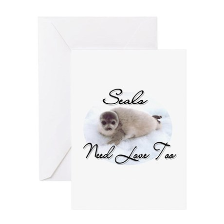 Seals Need Love Greeting Card