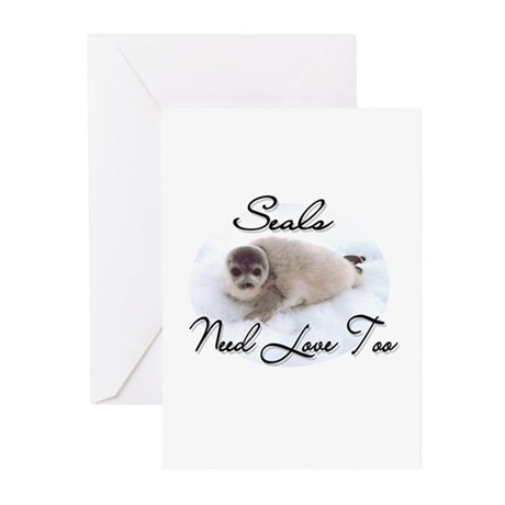Seals Need Love Greeting Cards (Pk of 10)