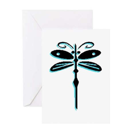 Teal Dragonfly Greeting Card