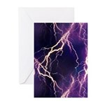 White Lightning Greeting Cards (Pk of 10)