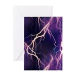 White Lightning Greeting Card