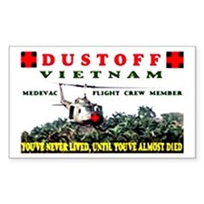 dustoff Rectangle Decal