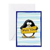 Miss You Penguin Greeting Card