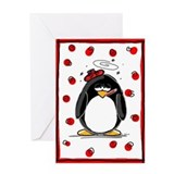 Get Well Penguin Greeting Card