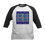 I Love Yoga! Kids Baseball Jersey