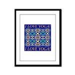 I Love Yoga! Framed Panel Print