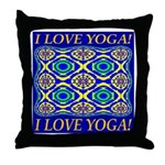 I Love Yoga! Throw Pillow