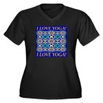 I Love Yoga! Women's Plus Size V-Neck Dark T-Shirt