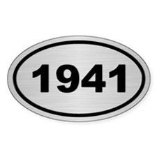 1941 Steel Grey Oval Vinyl Decal
