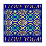 I Love Yoga! Tile Coaster