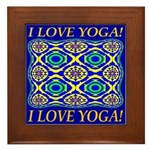 I Love Yoga! Framed Tile