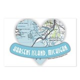 I Love Harsen's Island Postcards (Package of 8)