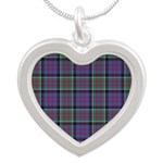 Tartan-MacDonald of Clanrana Silver Heart Necklace