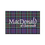 Tartan-MacDonald of Cla Rectangle Magnet (10 pack)