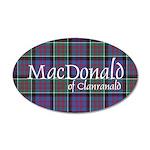 Tartan-MacDonald of Clanrana 20x12 Oval Wall Decal