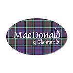 Tartan-MacDonald of Clanrana 35x21 Oval Wall Decal