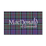 Tartan-MacDonald of Clanranald 20x12 Wall Decal