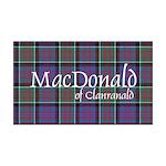 Tartan-MacDonald of Clanranald 35x21 Wall Decal