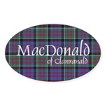 Tartan-MacDonald of Clanranald Sticker (Oval)