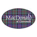 Tartan-MacDonald of Clanranal Sticker (Oval 50 pk)
