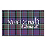 Tartan-MacDonald of Clan Sticker (Rectangle 10 pk)